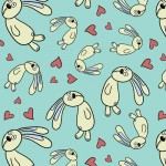 146002 FLOATING BUNNY  BLUE