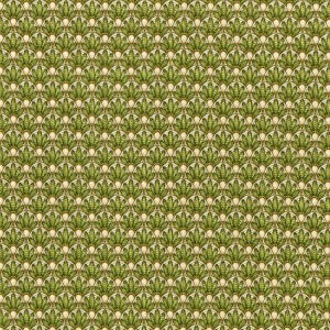 3248-003 LAYERED FLOWERS-GREEN