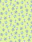 3379-001 Doodle Party Cats-green