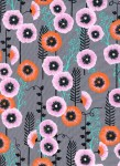 2062-1.Santa-Fe.Hollyhocks-Grey.Cotton