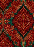 3579-005 Paisley-Red Green