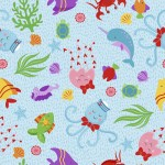 MT-MF2121-17 Sea Creatures Lt Blue