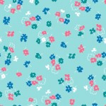 MT-VA2084-12 Little Floral Aqua