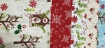 Christmas Birdhouse Fat Quarter 5 Pieces