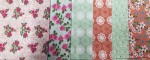 VIntage Floral Coral Fat Quarters 6 Pieces