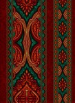 3578-005 Border- Red Green